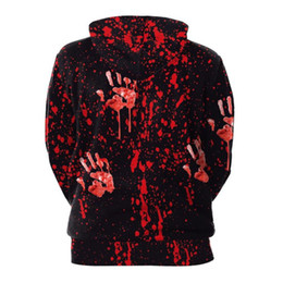 Men's Clothing Provided Blood Baby Hoodies Sweatshirts Men Women Halloween 3d Print Tops Jacket Jumper Tracksuit Pullover Blood Handprint Streetwear