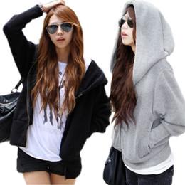 Mulheres suéteres coreanas suéteres on-line-Design de Moda das mulheres Hoodies Primavera e Outono de Gordura MM Manga Morcego Pullover Sólida Camisola para As Mulheres Coreano Com Capuz Solto Sports Casacos Casuais