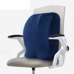 Almohadas grandes y largas online-Almohada trasera de gran tamaño para silla de oficina Ajuste universal La mayoría de las sillas con correas largas ajustables también como almohadilla de cojín de cadera Uso en el hogar