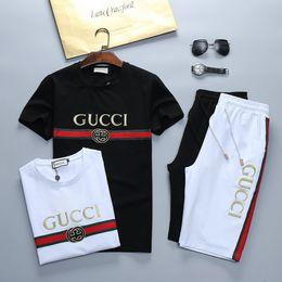 Chándal hombre conjuntos pantalones verano nuevos hombres recortados camiseta Shorts trajes casuales ropa deportiva para hombre sudadera masculina marca @ -3 desde fabricantes