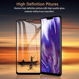Argentina Para LG G8 ThinQ One Plus 7 Coolpad Legacy Anti huella dactilar Cubierta completa Protector de pantalla Vidrio templado Envío gratis con paquete al por menor Suministro