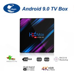 H96 MAX Android 9.0 Smart TV Box Rockchip RK3318 2 ГБ + 16 ГБ H.265 1080p 4K Google Play Netflix Youtube потоковый медиаплеер от