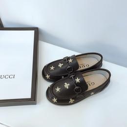 zapatos casuales Rebajas Boys'Leather Shoes Nuevo patrón en la primavera de 2019 Venta caliente Bordado de estrellas Estilo chino moda de verano
