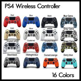 Bluetooth PS4 Wireless Controller para PS4 Vibration Joystick Gamepad 16 cores Game Controller para Sony Play Station 4 com caixa de varejo de Fornecedores de jogos livres do telemóvel