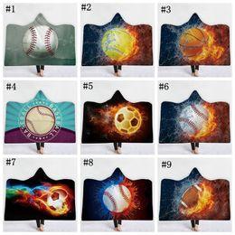 d606ad837 Cobertor de futebol com capuz sherpa esporte bola padrão macio impresso  manto de futebol americano cobertor mantas crianças adulto cobertores de  beisebol ...