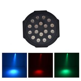 mini led par puede Rebajas AUCD Mini 18 piezas RGB Rojo Verde Azul LED LED Par puede iluminación de escenario Disco DJ Club Efecto Boda Show DMX Luz estroboscópica LE-Par18