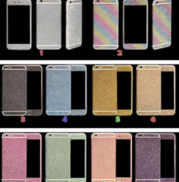 Iphone lado diamantes on-line-HOT Luxurious Full Body Bling diamante brilhante brilho do arco-íris Frente Verso Sides pele da tampa da etiqueta para 6 6G 6p 7 7plus X XR max