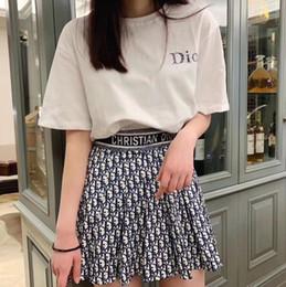 Été Nouveau T-shirt de designer de luxe Jupe courte Marque de dames Imprimer Costume jupe mi-longue Loisirs Mode Pure T-shirt blanc jupe costume ? partir de fabricateur