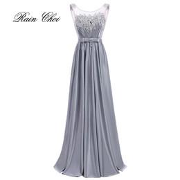 Deutschland Hochzeitsfestkleid Elegantes Brautjungfernkleid Satin Lange Brautjungfernkleider Versorgung