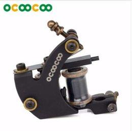 Высокая производительность катушки онлайн-OCOOCOO Tattoo Gun ZUAN ST100 Резная машинка для татуировки с резиновым утюгом High-Performance Coil-end 8000 об / мин - черный