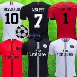 41665d3a2e60 PSG champions league 2018 19 MBAPPE Jersey CAVANI KIMPEMBE VERRATTI psg Kit  UCL Pairs Football uniform maillot de foot