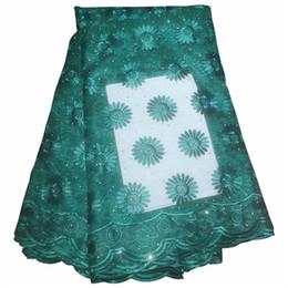 Pizzo flora prom online-Multi colori tessuti di pizzo flora arabo stile africano tessuto di pizzo francese per abiti da sposa abito da sera di alta qualità 426-10