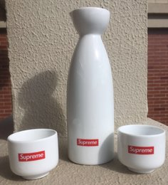 17fw Shochu sup porcellana set set bottiglia di vino in vaso 2 tazze set di sake in ceramica fw17 da