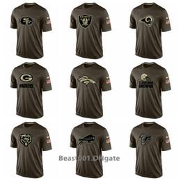 T-shirts en Ligne-Tee shirt Hommes 49ers Broncos Raiders Rams Packers Browns Bills Falcons