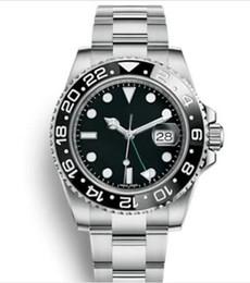 reloj deportivo cinético Rebajas 2019 Master GMT Ceramic Bezel Hombre Mecánico de acero inoxidable Movimiento automático Reloj de diseño Deportes Reloj automático Reloj luminoso