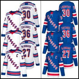 2019 camisetas de hockey nhl montreal canadiens Nueva York Henrik Lundqvist 36 Mats Zuccarello 27 Ryan McDonagh 20 Chris Kreider 93 Mika Zibanejad cosido 2019 Nueva Jersey Hockey