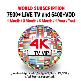 2019 reproductor multimedia 3g Suscripción 1/3/6/12 meses para Smart TV Android TV Box PC Phone UK / US / CA / FR / IT 7500+ gratuito VOD