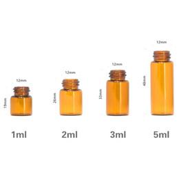 2019 драмовые бутылки 1 мл 2 мл 3 мл коричневого стекла эфирное масло 1/4 драм янтарная бутылка флаконы для образцов духов флакон с пробкой и черными белыми пробками 14 типов