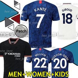 thailändische fußball-uniformen Rabatt Thai PULISIC KANTE LAMPARD ODOI WILLAN Fußball Trikot 2019 2020 GIROUD Fußballtrikot Trikot 19 20 MEN WOMEN KIDS SETS UNIFORM