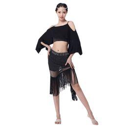 Крыло онлайн-2018 женщин танец живота одежда модальные одежда с плеча Летучая мышь крыло рукава бахрома юбка Bellydance костюм класс одежда