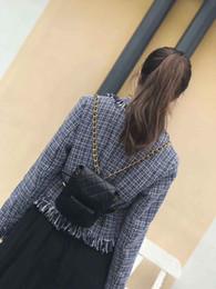 Argentina Mujeres de la moda caliente mini diseñador de la mochila de oro cadena a cuadros mochila doble bolsa de hombro de alta calidad estudiantes lindos mochilas niñas mochila Suministro