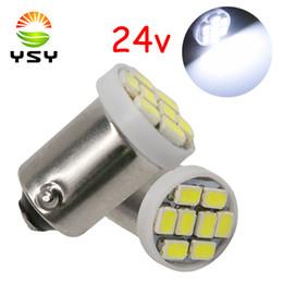 luz de lectura led 24v Rebajas YSY 24V BA9S 1206 8SMD T11 T4W 1895 6253 Bombilla de luz LED 8 Liquidación inversa Indicador de luz de lectura de matrículas lámparas blancas