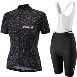 Женские велосипедные майки онлайн-2019 Morvelo женщина лето дышащий с коротким рукавом велосипедный комплект трикотажа ropa ciclismo велосипед велосипед одежда нагрудник шорты комплект