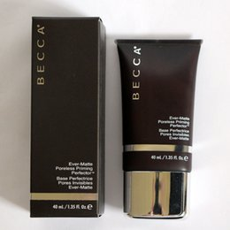 maquillage brillant Promotion Becca Ever-Matte Poreless Priming Perfector 1.35oz / 40ml de Maquillage Apprêt pour le Visage Shades Shine Proof Sheup Maquillage Dropshipping