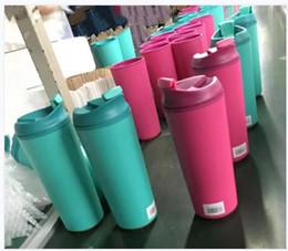 copos de plástico livre Desconto Canecas De Café Copo De Água De Plástico Drinkware Cozinha Acessórios Copos de Viagem Quente Fria Não Slip Aperto Parafuso Tampa Flip Cap Aberto Frete Grátis