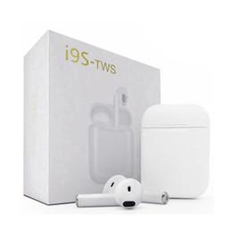 Хорошее качество iphone наушники онлайн-I9S-TWS I9 I9S I9S TWS Мини Портативные беспроводные стереонаушники Bluetooth 4.2 Наушники Новый HBQ I9 с зарядным устройством хорошего качества