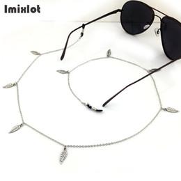 Titular de espetáculos on-line-Óculos de prata Cadeia De Folhas Eyewears Óculos Óculos Óculos De Leitura Óculos De Corda Cadeia Titular Corda De Metal Strap