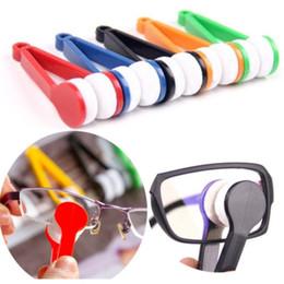 occhiali senza lente Sconti Spazzola per occhiali multi-funzione per un facile trasporto degli occhiali Pulizia della spazzola Pulire la lente senza lasciare tracce Pulizia dell'utensile per la pulizia della spazzola T8I056