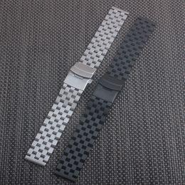 doppelte faltschließe Rabatt 18mm 20mm 22mm 24mm 26mm Uhrenarmband Edelstahl Metall Armbanduhr Armband Double Fold Faltschließe Armband