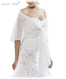Zaffiro da sposa bianco nero avorio bordeaux Vestido de festa da donna scialle avvolge coprispalle chiffon da sera da sposa capo bolero da
