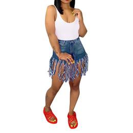 2019 высокая талия короткие джинсы девушка 2019 Autunm Hot Pants Wonen European Style New Hand High Waist Slim Tassel Jeans Shorts Girl Lady Beach Pants Femme jeans mujer скидка высокая талия короткие джинсы девушка