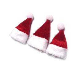 miniature di vacanza Sconti Miniature casa delle bambole Natale Mini miniatura casa delle bambole Decorazione natalizia Babbo Natale cap (un berretto)
