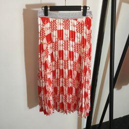 Argentina Milán Diseñador Mujer Faldas Carta Hermosa Imprimir Pliegues Faldas Mujeres 2019 Primavera verano Faldas 030402WL Suministro
