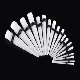 Calibro a cono online-MOSRSA 18 pz / set Acrilico Taper Ear Gauge 1.6-10mm Ear Plugs e Tunnel Stretching Kit Flesh Expansion Body Piercing Gioielli