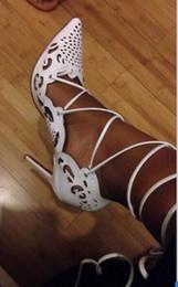 Туфли для вечеринок женщины золото черный белый бежевый высокие каблуки заостренный носок зашнуровать шпильки свадебные туфли zapatos mujer от