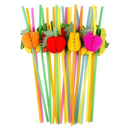 50PCS Supplies Einweg Straw 3D Hochzeit Trinken Bar Cocktail Fluorescent DIY bunter Club Tropical-Party-Dekoration von Fabrikanten