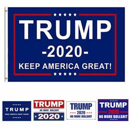Aufkleber banner online-90 * 150 cm Donald Trump Flagge Amerika Präsident Wahl Banner Trump Auto Aufkleber Werbung Flagge Exquisite Aufkleber HHA327