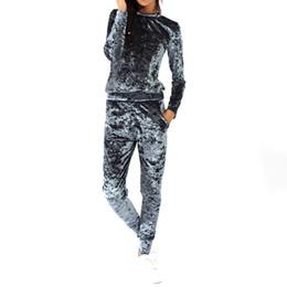 2019 костюмы для джемперов Autumn Ladies Lounge Suit Sweatshirt Fitness Blouse Pant Jumpers Lounge Wear Tracksuit скидка костюмы для джемперов
