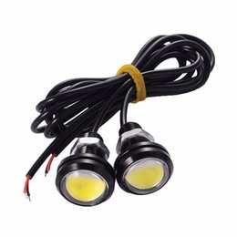 waterproof eagle eye Coupons - New 12V 23MM LED eagle eye car fog DRL daytime reverse parking signal yellow blue white red waterproof daytime running lights