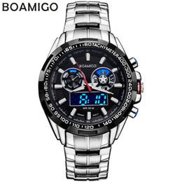 Reloj de la marca boamigo online-BOAMIGO Men Watch 2018 Top Luxury Brand Sport Watch Electronic Digital Masculino Hombre 50M Reloj de cuarzo impermeable para hombres