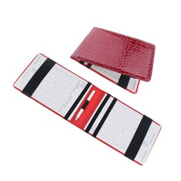 golf wallets Coupons - High Quality PU Golf Scorecard Holder Keeper Golf Score Wallet Yard Book Cover Pocketbook Scoring With 2 Score Cards