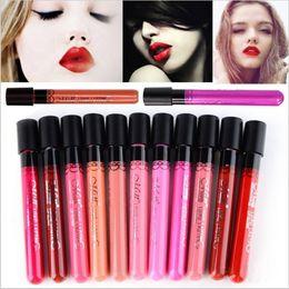 2019 trucco scuro sexy Makeup Matte Lipstick Tint liquid Lipstick Velluto Make up Impermeabile Long Lasting Lip Gloss Sexy Menow cosmetico trucco scuro sexy economici