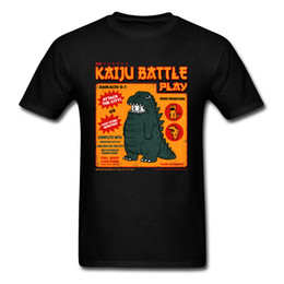t shirt hommes dinosaures Promotion T Shirt Hommes Tshirt Coton Noir Tops Mignons Tee Shirts Étudiants Cartoon Dinosaur Vêtements Noir S-3XL