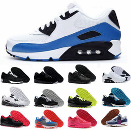 calzado para correr Rebajas nike air max 90 Las zapatillas deportivas New  Olive para hombre llevan un color azul metálico negro, zapatillas deportivas para hombres con cojines de aire 98