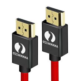 xbox hdmi lead Desconto Cabo HDMI de Alta Velocidade 1 m 2 m 3 m 5 m 10 m 3D Suporte Ethernet Função 4K Suporte HDMI Chumbo para TV Laptops PS3 PS4 Xbox