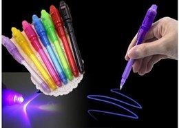 penna magica uv Sconti Big Head Bright Light Pen Magic Purple 2 in 1 UV Black Light Combo Drawing Inchiostro invisibile Penna Learning Education Toys For Child